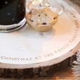 Personalised Engraved Wooden Block Centrepiece