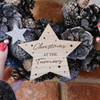 Lisa Angel Engraved Personalised Navy Blue Pinecone and Flower Wreath