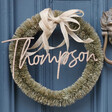 Personalised Vintage Bristle Wreath and Bow