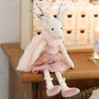 Lisa Angel Pink Ballerina Reindeer Doll Decoration