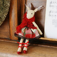 Lisa Angel Red Ballerina Reindeer Doll Decoration