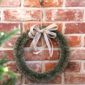 Vintage Bristle Wreath and Bow