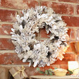 Lisa Angel White and Gold Glitter Pinecone Wreath