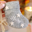 Lisa Angel Personalised Felt Mini Stocking