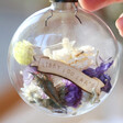 Lisa Angel Hand Filled and Personalised Pastel Dried Flower Bauble