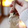 Lisa Angel White Personalised Set of Three Christmas Dried Flower Baubles