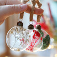 Lisa Angel Special Set Of Three Christmas Dried Flower Baubles