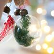 Lisa Angel Set Of Three Christmas Dried Flower Baubles
