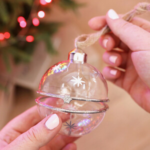Silver Stars Opening Bauble