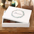 Lisa Angel Printed Personalised Wreath Print Wooden Christmas Eve Box