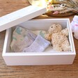 Lisa Angel Spacious Personalised 'Baby Boy' Medium White Wooden Box