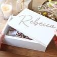 Lisa Angel Personalised Engraved Medium White Wooden Box