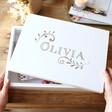 Lisa Angel Ladies' Personalised Vintage Swirls Large White Wooden Box
