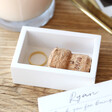 Lisa Angel Special Personalised 'Wedding Thank You' Small White Wooden Box