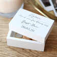 Lisa Angel Ladies' Personalised 'Wedding Thank You' Small White Wooden Box