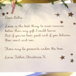 Children's Personalised White Wooden Christmas Eve Poem Box