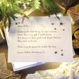 Lisa Angel Kids Personalised White Wooden Christmas Eve Poem Box