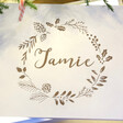 Kids Personalised Wreath White Wooden Christmas Box