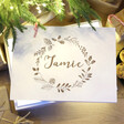 Lisa Angel Personalised Wreath White Wooden Christmas Box
