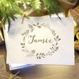 Lisa Angel Personalised Wreath White Wooden Christmas Box