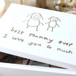 Personalised 'Your Drawing' Medium White Wooden Box