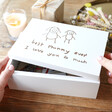 Lisa Angel Personalised 'Your Drawing' Medium White Wooden Box