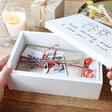 Lisa Angel Special Personalised 'Your Drawing' Medium White Wooden Box