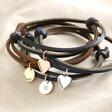 Lisa Angel Ladies' Personalised Adjustable Leather Cord and Charm Bracelet