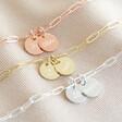 Lisa Angel Personalised Double Charm Wide Chain Bracelets