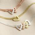 Lisa Angel Ladies' Personalised Family Heart Charm Bracelet