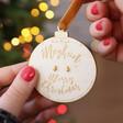 Lisa Angel Ladies' Christmas Tree Stud Earrings on Personalised Wooden Bauble