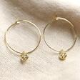 Lisa Angel Gold Personalised Birthstone Charm Hoop Earrings