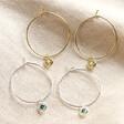 Lisa Angel Ladies' Personalised Birthstone Charm Hoop Earrings