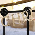 Personalised Family Christmas Wooden Garland
