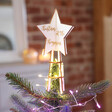 Lisa Angel Personalised Engraved 3D Wooden Star Tree Topper