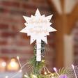 Lisa Angel Personalised Engraved Wooden Star Tree Topper