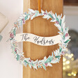 Festive Personalised Printed Wooden Christmas Wreath