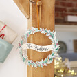 Lisa Angel Personalised Printed Wooden Christmas Wreath