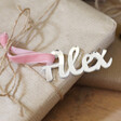 Personalised Set of 3 Silver Acrylic Name Gift Tags