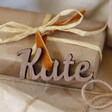 Personalised Set of 3 Wooden Name Gift Tags