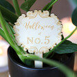 Lisa Angel Engraved Personalised Vintage Swirls Plant Sign