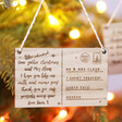 Festive Personalised Wooden 'Letter to Santa' Hanging Decoration