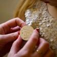 Lisa Angel Kids Personalised Wooden 'Make a Wish' Christmas Badge