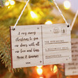 Festive Personalised Wooden Postcard Hanging Decoration