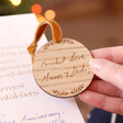 Festive Personalised Wooden 'Your Handwriting' Hanging Decoration