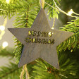 Lisa Angel Laser Cut Set of 3 Personalised Name Wooden Star Decorations