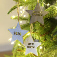 Lisa Angel Set of 3 Personalised Name Wooden Star Decorations