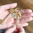Lisa Angel Gold Personalised Affirmation Charms Keyring