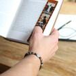 Men's Personalised Semi-Precious Stone Bead Bracelet on Model