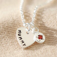 Lisa Angel Personalised Sterling Silver Birthstone Charm Necklace